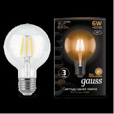 ЛАМПА GAUSS LED FILAMENT G95 6W Е27 2700K