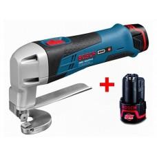 Аккум. ножницы по металлу BOSCH GSC 12V-13 L-BOXX (12.0 В, 2 акк., 2.0 А/ч, Li-Ion, сталь до 1.3 мм)
