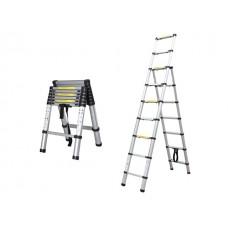 Лестница-стремянка  телескопическая алюм. 184 см 11,8кг STARTUL (ST9703-079)