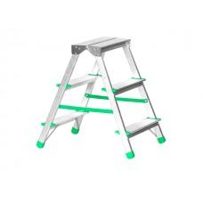 Лестница-стремянка алюм. двухсторонняя 56 см 3 ступ., 1,89 кг (до 120 кг) iTOSS Eurostyl