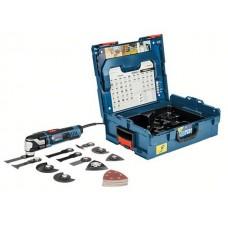 Многофункциональный инструмент (реноватор) BOSCH GOP 55-36 L-BOXX + набор оснастки (550 Вт, 8000 -20000 об/мин, StarlockMax)