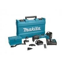 Аккум. многофункциональный инструмент (реноватор) MAKITA DTM 50 RFEX 1 в чем. + набор оснастки (18.0 В, Li-Ion, 2 акк., 3.0 А/ч, 21000 об/мин)