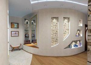 Стены и потолок из гипсокартона